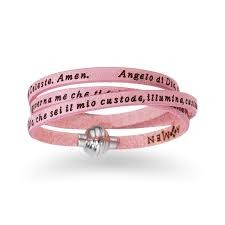 bracciale amen junior angelo custode rosa