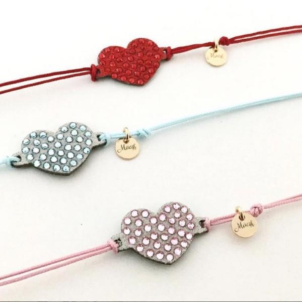 bracciale muah bijoux cuore rosso