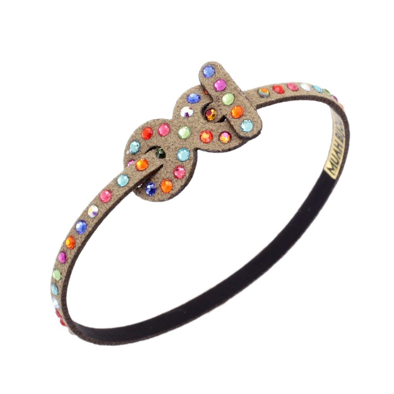 bracciale muah bijoux infinito tennis multicolor