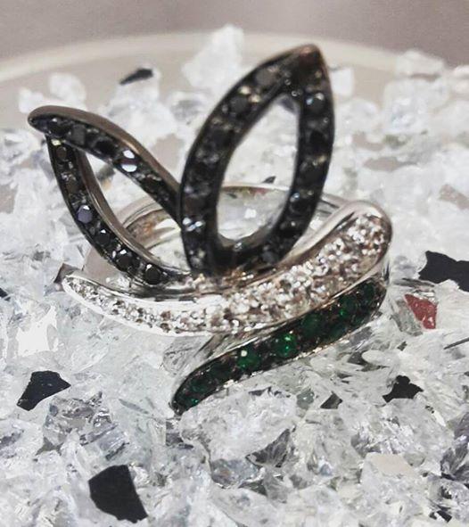 Anello Diamanti Farfalla