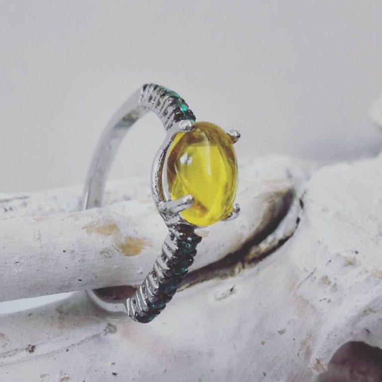 anello argento giallo