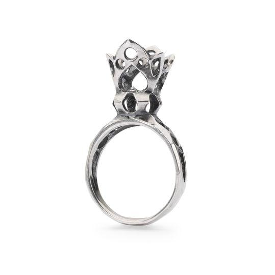 trollbeads anello regina di cuori