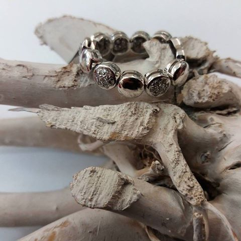 anello fascia semimorbida oro bianco
