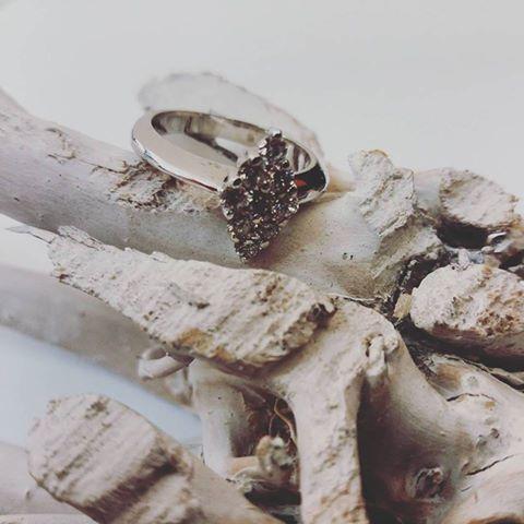 anello rombo oro bianco