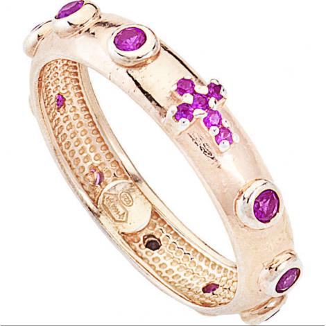 anello-donna-gioielli-amen-rosario-argento-dorato-pietre-rosse-arorr12